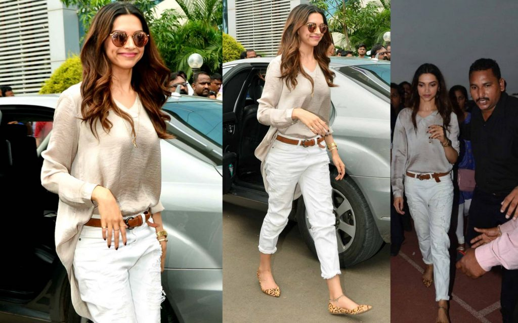 Deepika in Comfy jeans and t-shirt