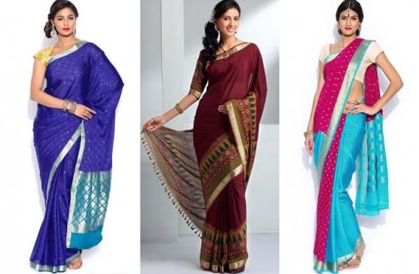 Pattern of silk sarees