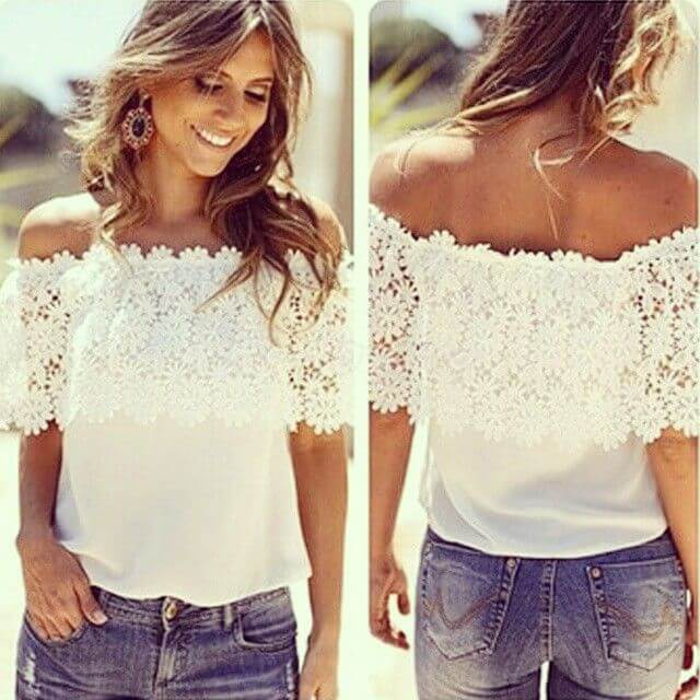 Off shoulders tops