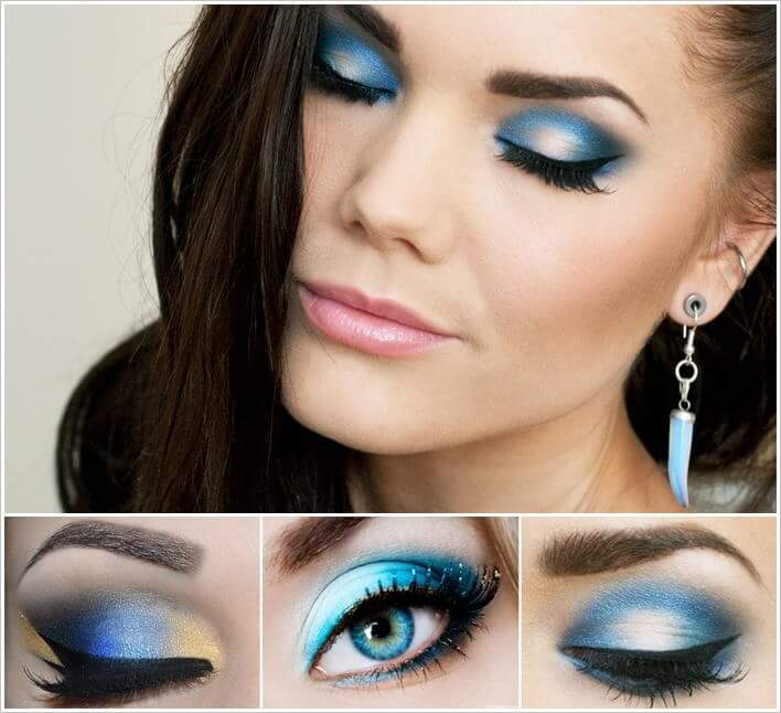 aqua eye shadow