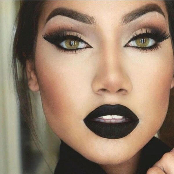 black lip shade