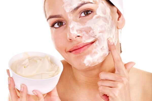 Scrubbing your face and feet
